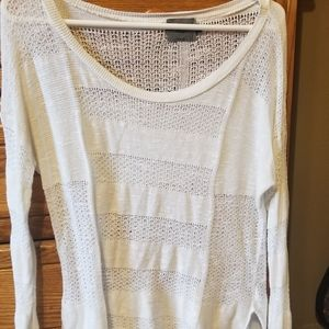 Women's cream colored sweater LARGE
